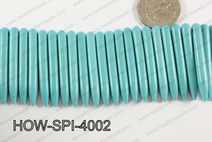 Howlite Spikes 5x40mm Turquoise HOW-SPI-4002