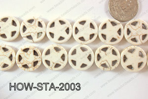 Howlite Star 20mm HOW-STA-2003