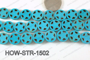 Howlite Star Turquoise 15mm HOW-STR-1502