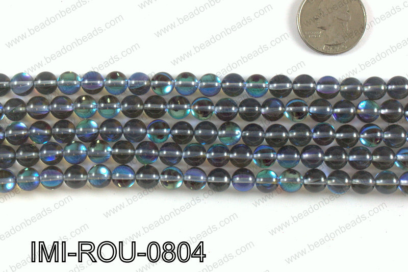 Imitation Labradorite 8mm IMI-ROU-0804