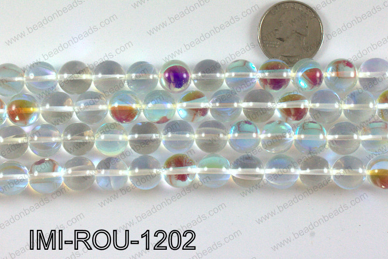 Imitation moonstone 12mm IMI-ROU-1202