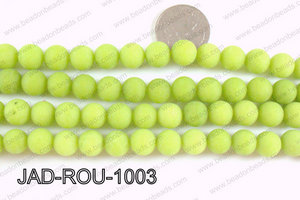 Matte Finish Round Jade Green 10mm JAD-ROU-1003