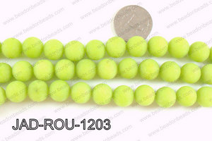 Matte Finish Round Jade Green 12mm JAD-ROU-1203