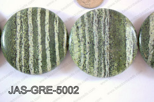 Jasper Green Coin 50mm JAS-GRE-5002
