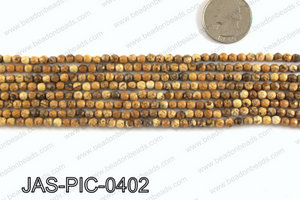Picture Jasper faceted round 4mm JAS-PIC-0402