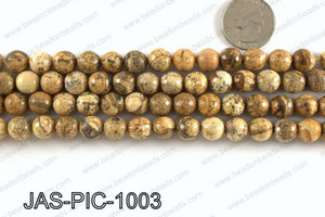 Picture Jasper faceted round 10mm JAS-PIC-1003
