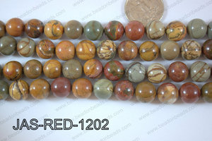 Red Creek Jasper Round 12mm JAS-RED-1202