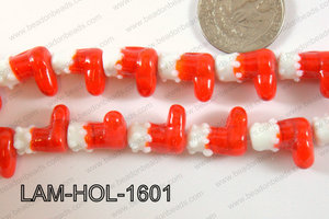 Lampwork Boots 13x16mm LAM-HOL-1601