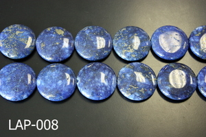 Lapis Flat Coin 30mm LAP-008