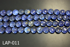 Lapis Flat Coin 14mm LAP-011