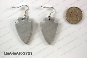 Leather arrow earrings 37x24mm LEA-EAR-3701