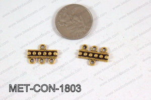 3 Hole Connector Gold 18x13mm MET-CON-1803