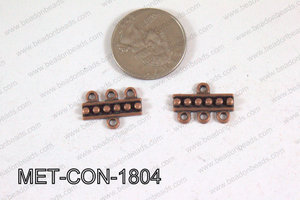 3 Hole Connector Copper 18x17mm MET-CON-1804