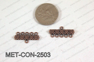 5 Hole Connector Copper 25x12mm MET-CON-2503
