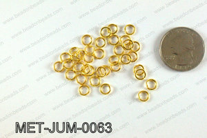 6MM Gold open Jump ring MET-JUM-0063