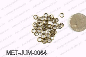 6MM Bronze open Jump ring MET-JUM-0064