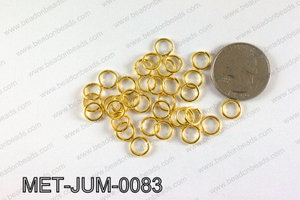 8MM Gold open Jump ring MET-JUM-0083