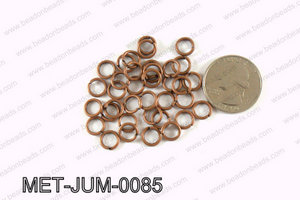 8MM Copper open Jump ring MET-JUM-0085