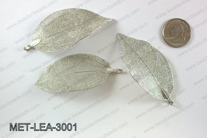 Electroplated copper leaf, 30x60mm MET-LEA-3001