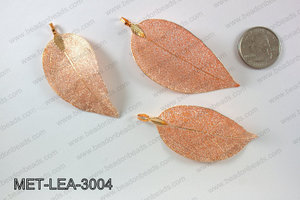 Electroplated copper leaf, 30x60mm MET-LEA-3004