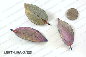 Electroplated copper leaf, 30x60mm MET-LEA-3006