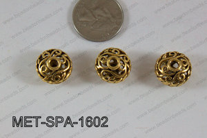 Filligree Spacer Gold 10x16mm MET-SPA-1602