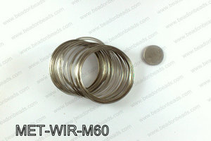 Memory wire, Medium size 0.6x60, Dark Silver MET-WIR-M60