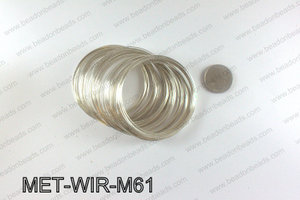 Memory wire, Medium size 0.6x60, Light Silver MET-WIR-M61