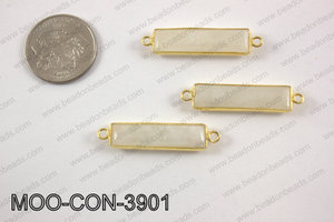 Moonstone rectangle connector 9x39mm MOO-CON-3901
