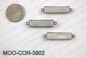 Moonstone rectangle connector 9x39mm MOO-CON-3902