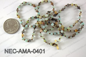 4mm amazonite necklace NEC-AMA-0401