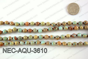 KNOTTED 8MM AQUA TERRA NECKLACE NEC-AQU-3610