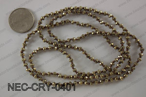 4mm crystal necklace NEC-CRY-0401