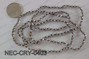 4mm crystal necklace NEC-CRY-0403