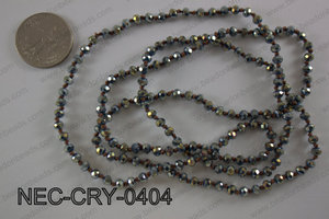 4mm crystal necklace NEC-CRY-0404