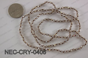 4mm crystal necklace NEC-CRY-0406