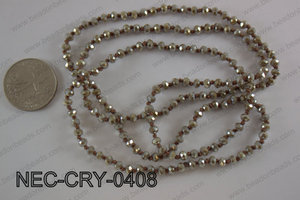 4mm crystal necklace NEC-CRY-0408