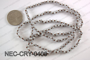 4mm crystal necklace NEC-CRY-0409