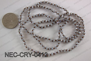 4mm crystal necklace NEC-CRY-0412