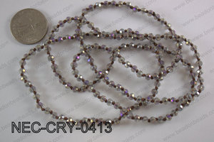 4mm crystal necklace NEC-CRY-0413