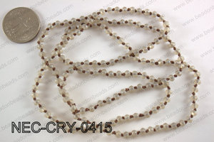 4mm crystal necklace NEC-CRY-0415
