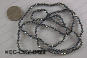 4mm crystal necklace NEC-CRY-0422