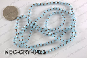 4mm crystal necklace NEC-CRY-0423
