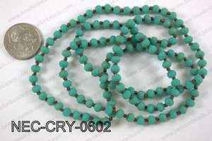 6mm crystal necklace NEC-CRY-0602