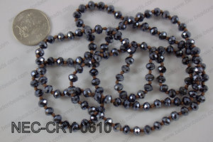 6mm crystal necklace NEC-CRY-0610