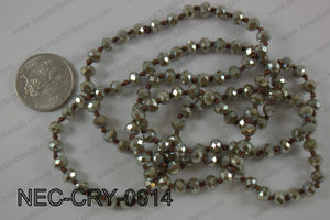 6mm crystal necklace NEC-CRY-0614