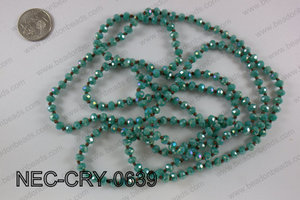 6mm crystal necklace NEC-CRY-0639