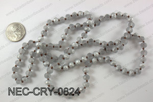 8mm crystal necklace NEC-CRY-0824