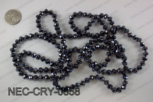 8mm crystal necklace NEC-CRY-0858