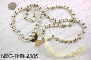 Thread necklace with butterfly charm NEC-THR-2306